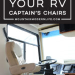 See how easy it is to remove the captain chair from your RV so that you can replace it or move it temporarily for updates   MountainModernLife.com