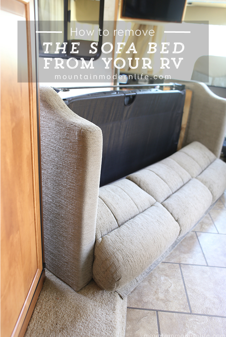 How To Remove The Sofa From Your Rv