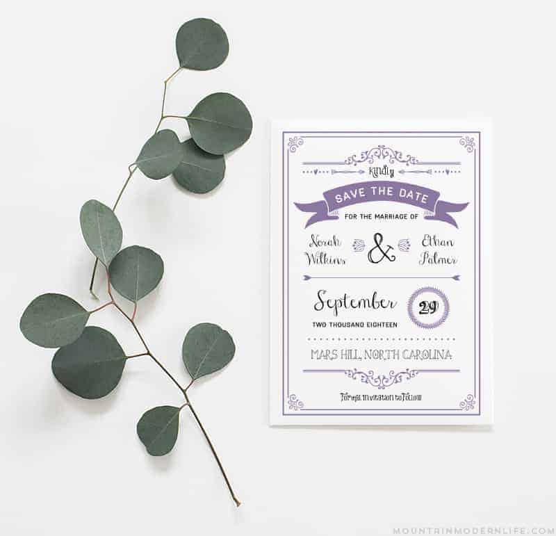 Lavender DIY Save the Date | MountainModernLife.com