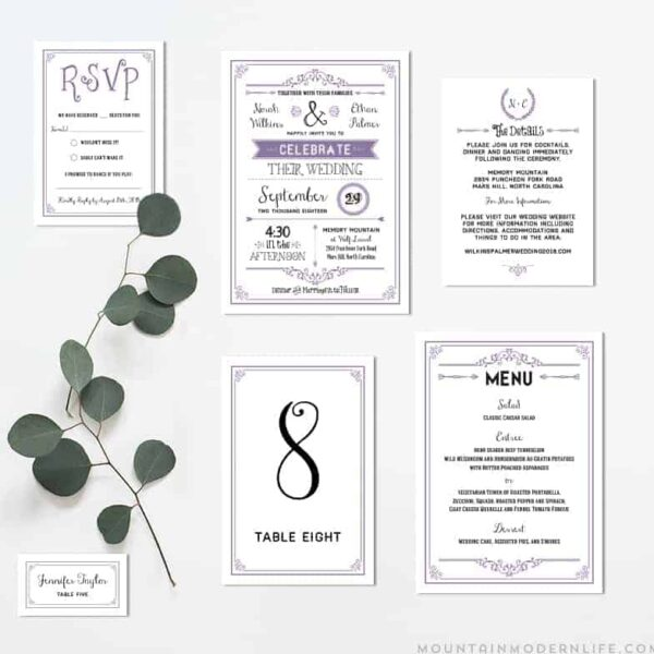 Printable DIY Invitation Set