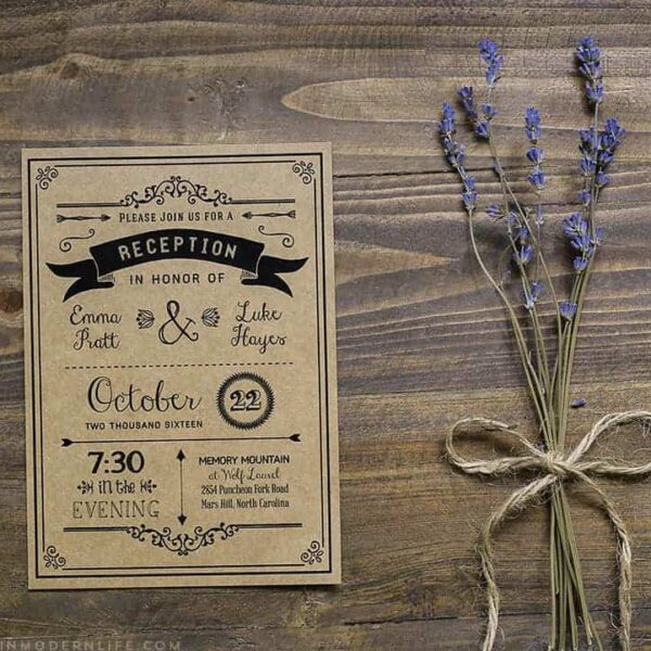 Printable DIY Wedding Templates | MountainModernLife.com