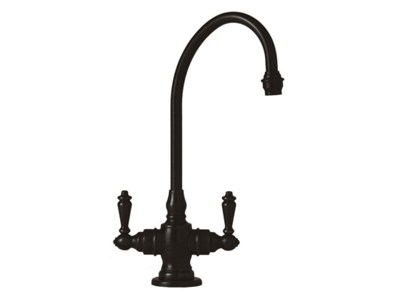 10 Rustic and Vintage-Inspired Black Kitchen Faucet Designs | MountainModernLife.com