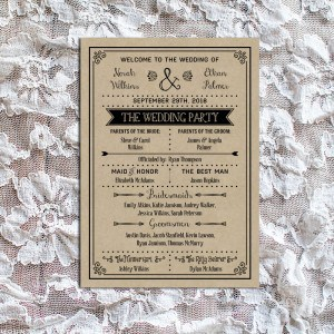 Rustic DIY Wedding Program Template