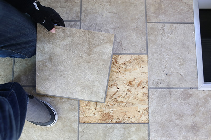 Removing the Tile Flooring in the RV | MountainModernLife.com
