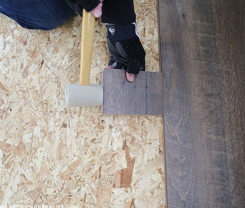 How to install planked flooring inside RV | MountainModernLife.com
