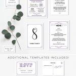 Printable DIY Wedding Invitation Set | MountainModernLife.com