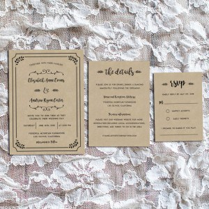 Whimsical Rustic Printable Wedding Invitation Set | MountainModernLife.com