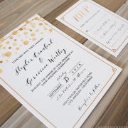 Printable Modern Gold Wedding Invitation