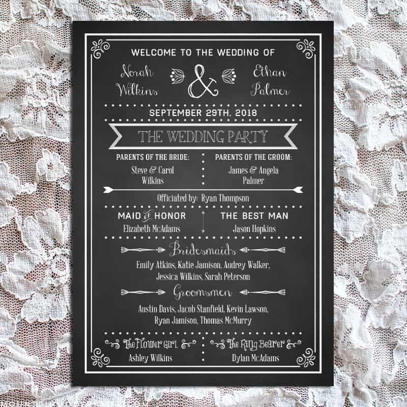 Printable DIY Wedding Program Fan