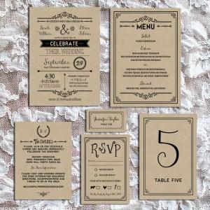 Printable Rustic DIY Wedding Invitation Set   MountainModernLife.com
