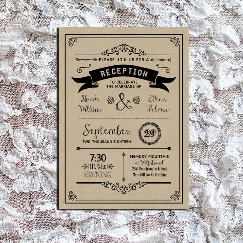 Wedding Reception Only Invitations With Best Invitation Sample