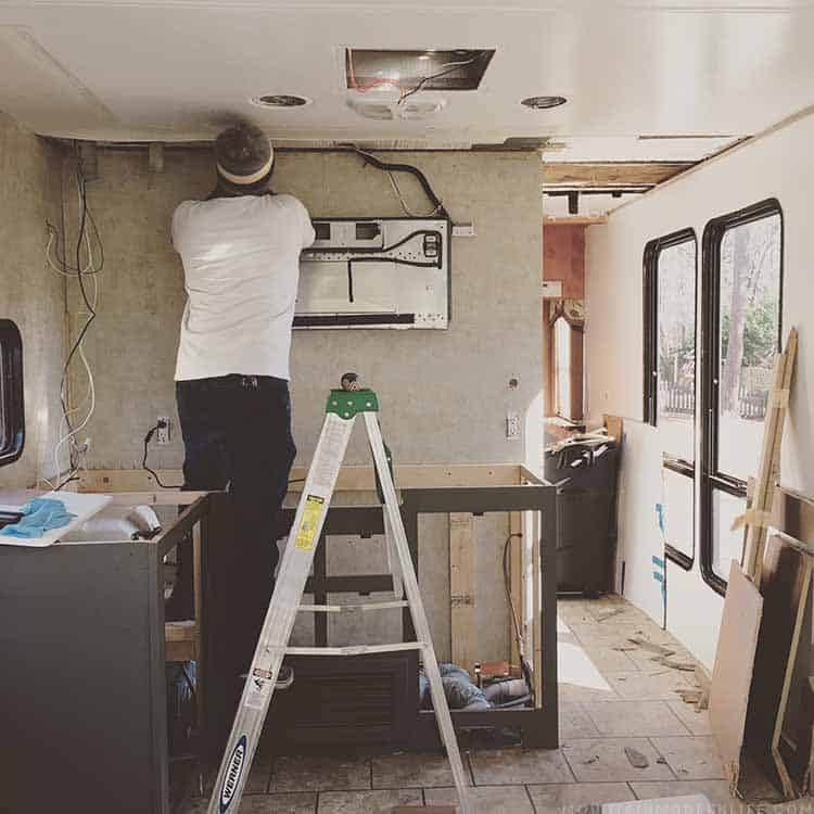 Dealing with an RV Water Leak in the RV before installing the Flooring | MountainModernLife.com