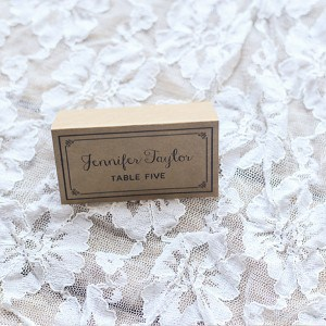 Rustic DIY Wedding Place Card Printed on Kraft Paper | MountainModernLife.com