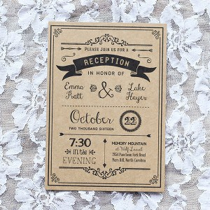 DIY Reception Only Invitation