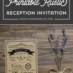 Printable DIY Reception Only Invitation | MountainModernLife.com