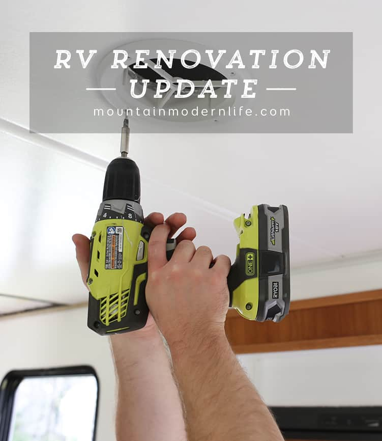 Follow along to see how the renovation is coming along in our Tiffin Allegro Open Road 32LA. RV Renovation Progress Week 4 | MountainModernLife.com