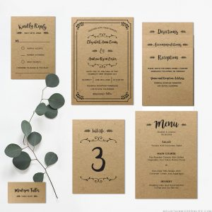 Planning a rustic-inspired wedding? Save money by customizing this printable DIY wedding invitation set yourself, and print as many copies as you need! MountainModernLife.com