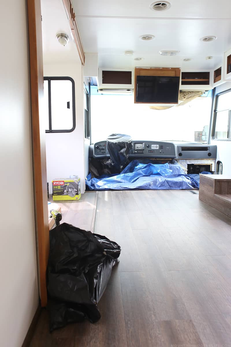 Rustic Modern RV Renovation Progress - Before