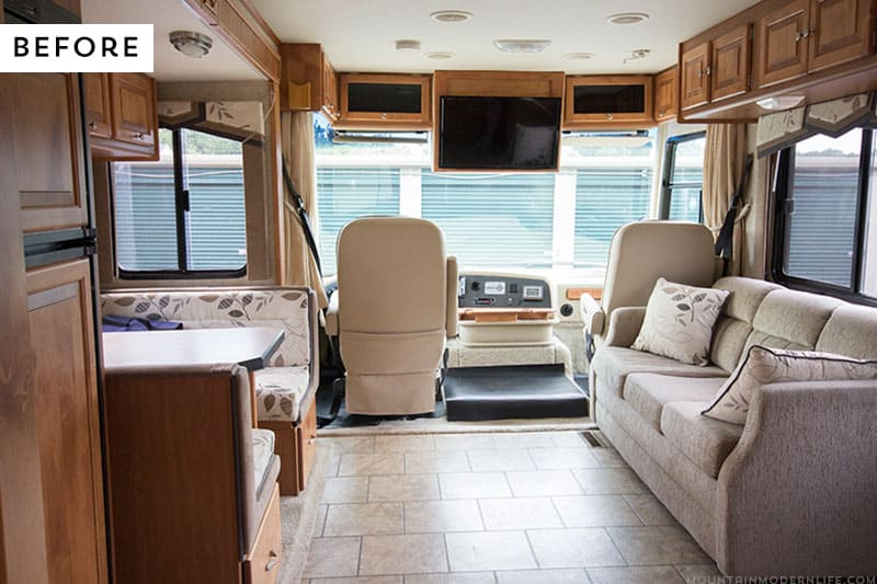 RV Renovation Before Photo | MountainModernLife.com