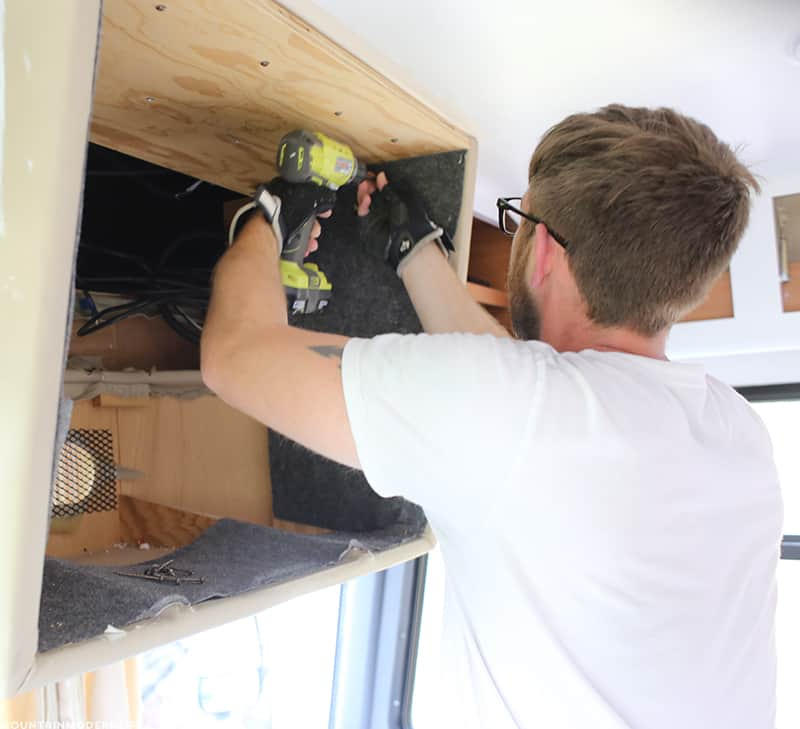 removing-tv-cabinet-from-front-of-motorhome-mountainmodernlife.com