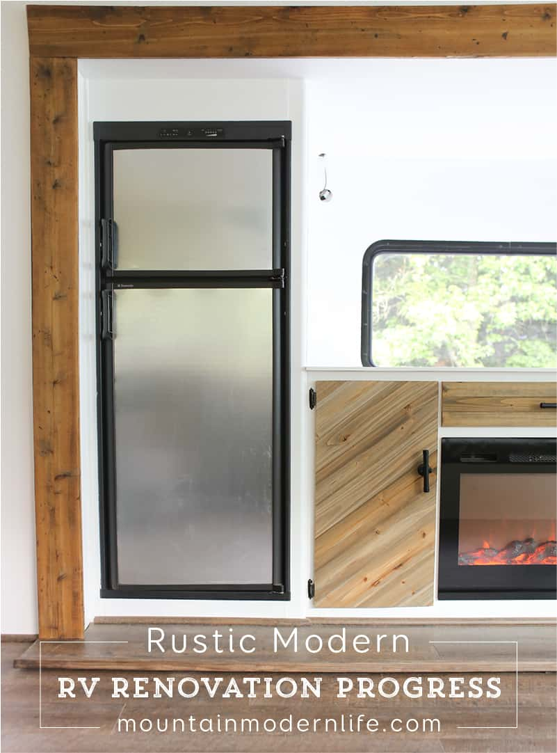 Rustic Modern RV Renovation Progress | MountainModernLife.com