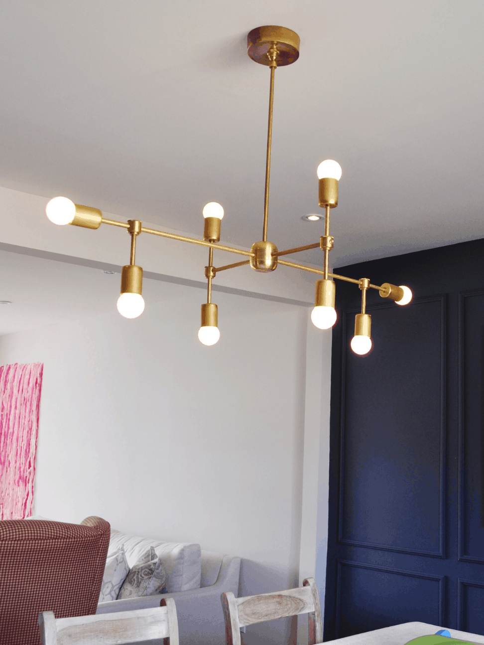 Diy modern light fixtures for How to make your own light fixture