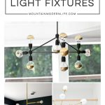 DIY Mid-Century Modern Light Fixtures | MountainModernLife.com