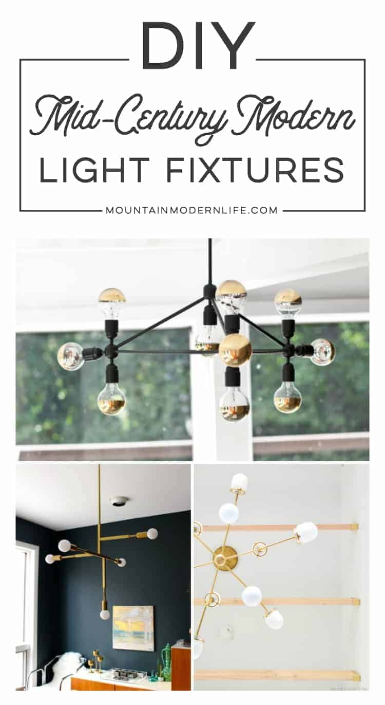 DIY Mid-Century Modern Light Fixtures | MountainModernLife.com