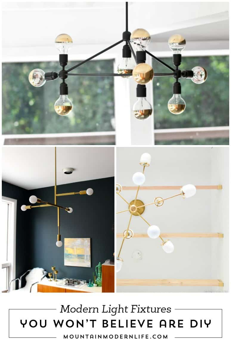 Thinking about making your own light fixture? You've gotta check out these DIY Modern Light Fixtures you won't believe are handmade!