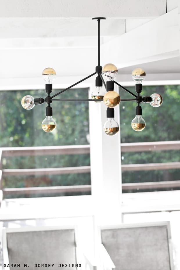 20 Pretty Cool Lighting Ideas For Contemporary Living Room: DIY Modern Light Fixtures