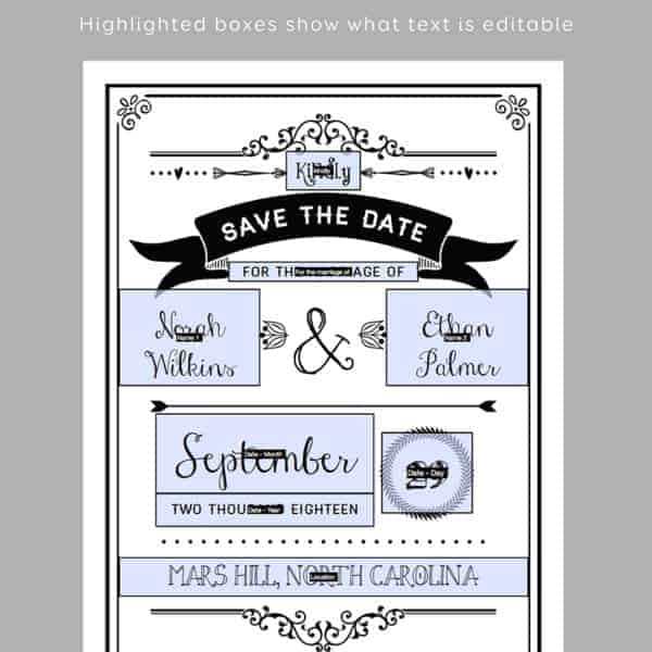 Printable DIY Save the Date | MountainModernLife.com