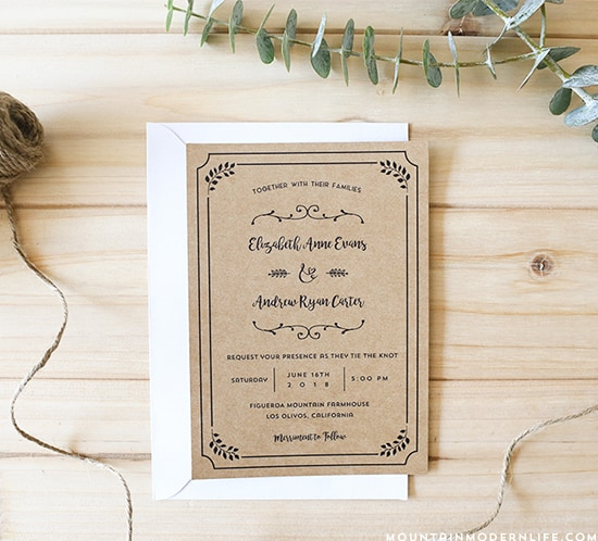 Free Printable Wedding Invitations They Re Easy With Hortense B