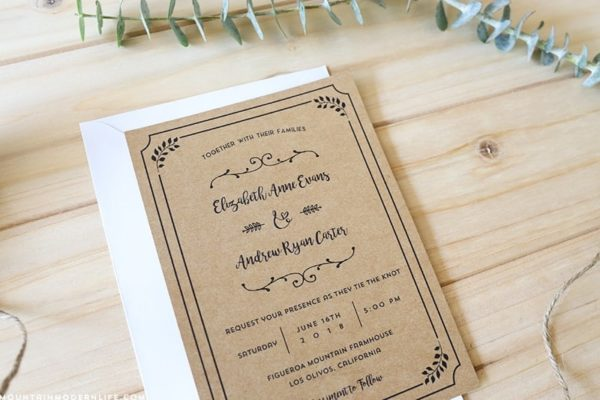 free-whimsical-wedding-invitation-on-kraft-paper-mountainmodernlife.com