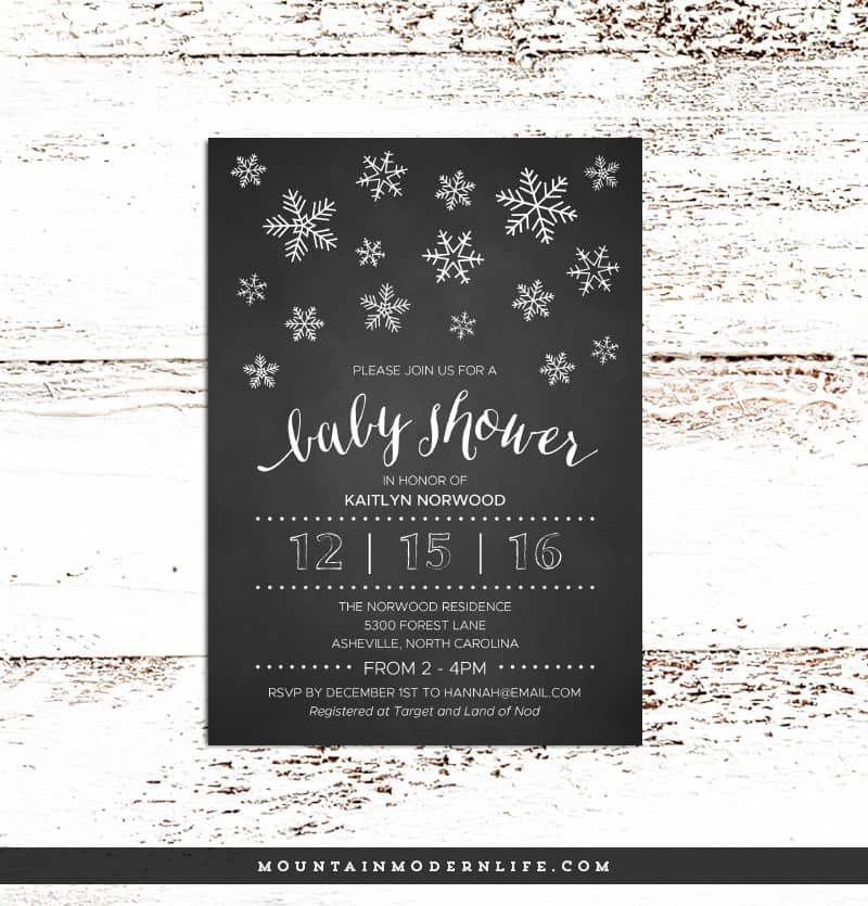 printable diy baby shower invitation mountainmodernlifecom