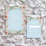 DIY Printable Wedding Invitation and RSVP Card Templates | MountainModernLife.com