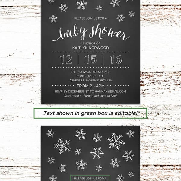 Printable DIY Baby Shower Invitation | MountainModernLife.com