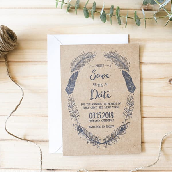 Rustic Boho Inspired Save the Date