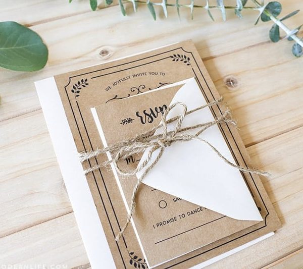 Rustic Diy Wedding Invitations: Whimsical Rustic DIY Wedding Invitation Set