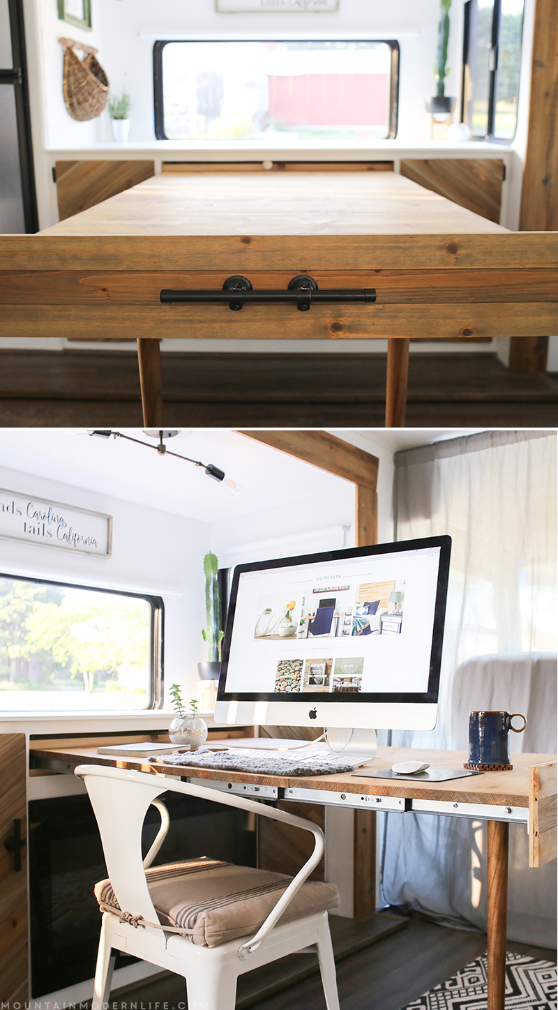 DIY expandable table (that\'s hidden when not in use)
