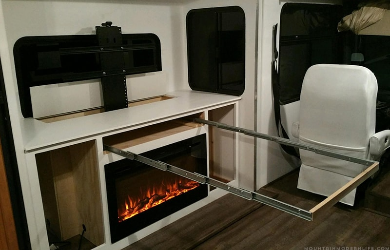 early-stages-of-diy-pull-out-table-in-rv-mountainmodernlife.com