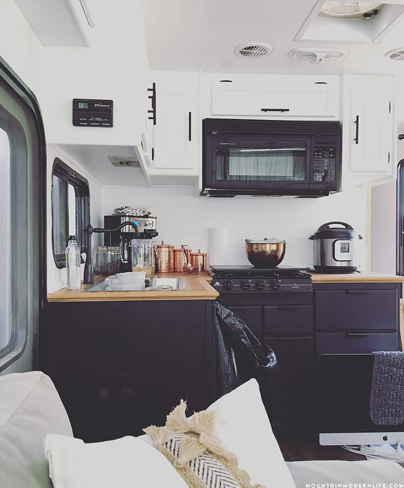 Rustic RV Kitchen Progress #mountainmodernlife