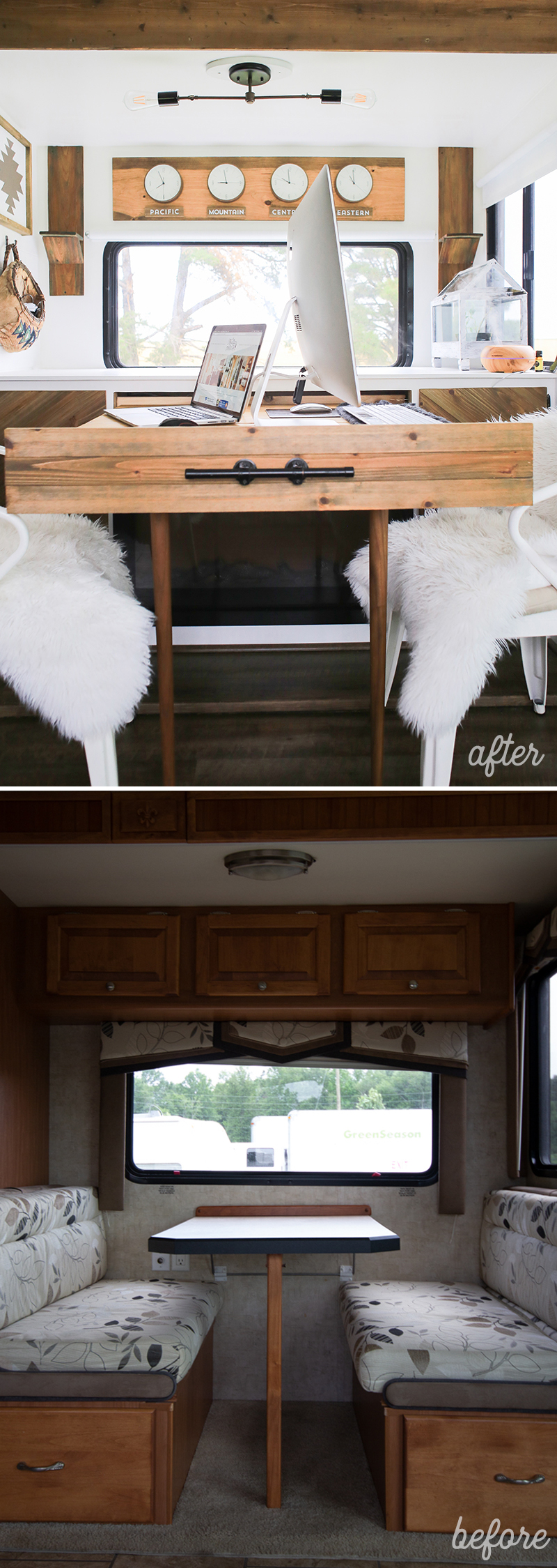 RV dinette booth makeover