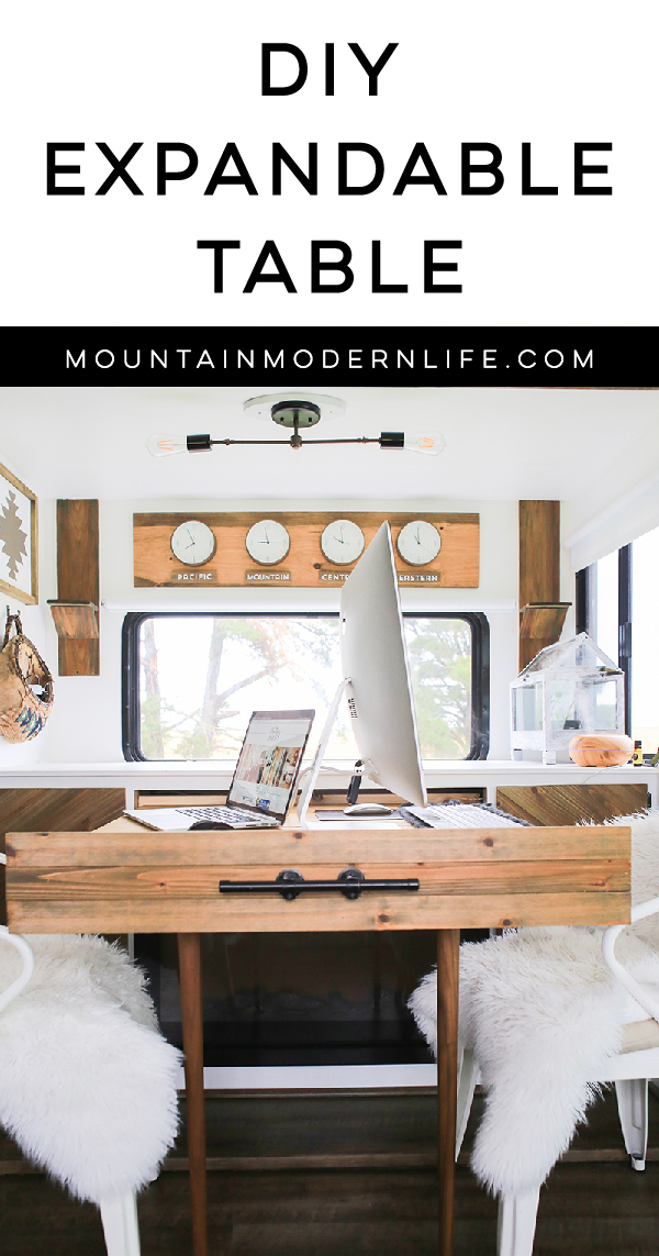 We\'re obsessed with this space-saving DIY expandable table