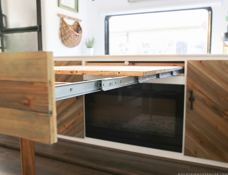 Space Saving DIY Pull Out Table | MountainModernLife.com