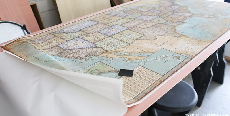 Document your Adventures with a DIY Push Pin VintageStyle Map – Pushpin Travel Map