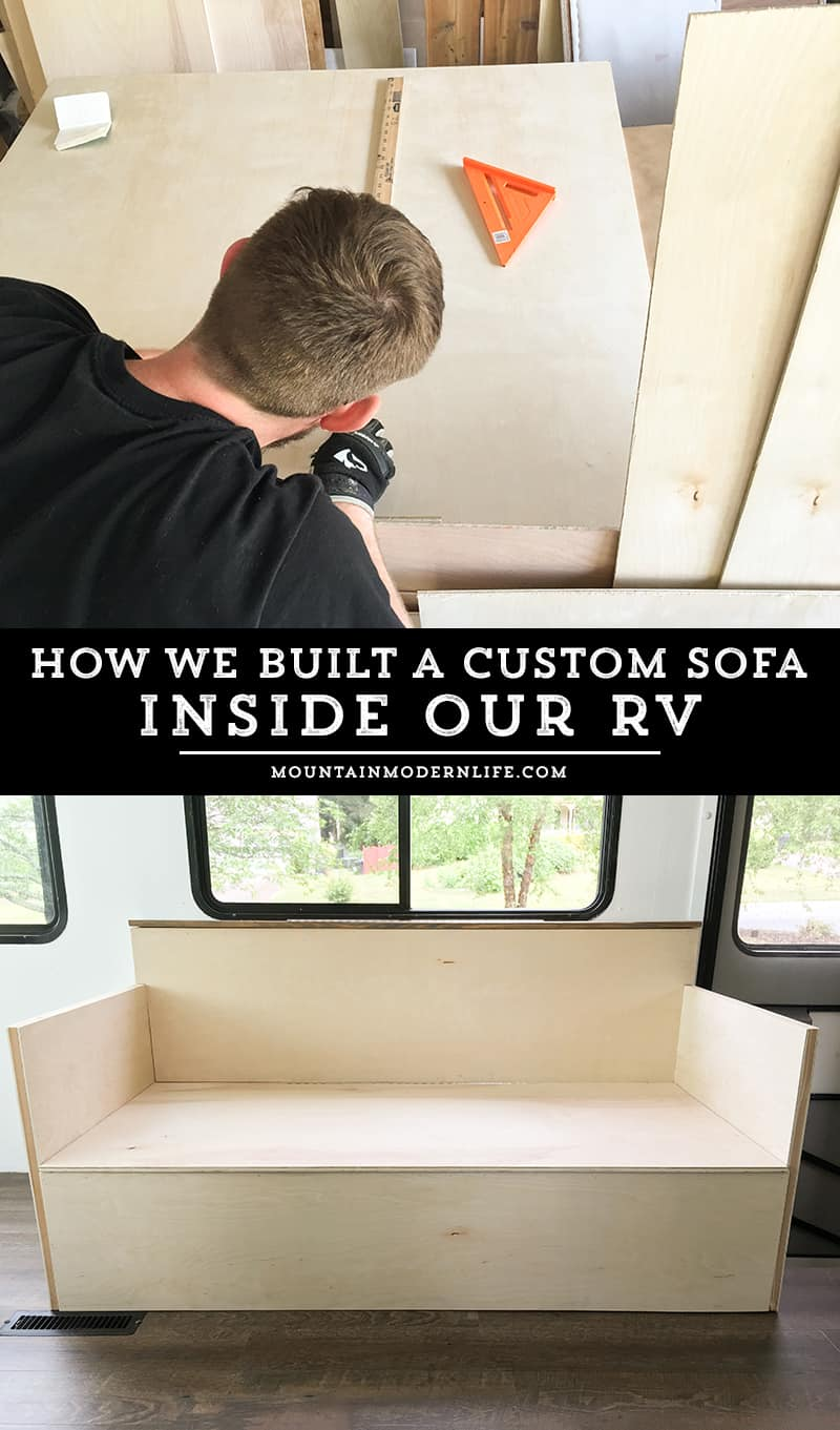 Custom RV Sofa - Part 1