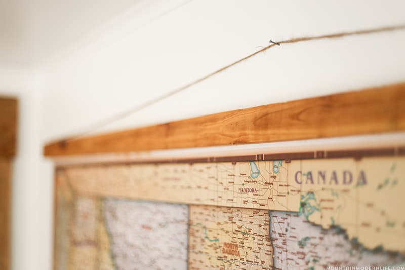 Whether you love to travel, plan to, or simply dream of doing it someday, this DIY push pin vintage-style map is the perfect way to document your adventures! MountainModernLife.com
