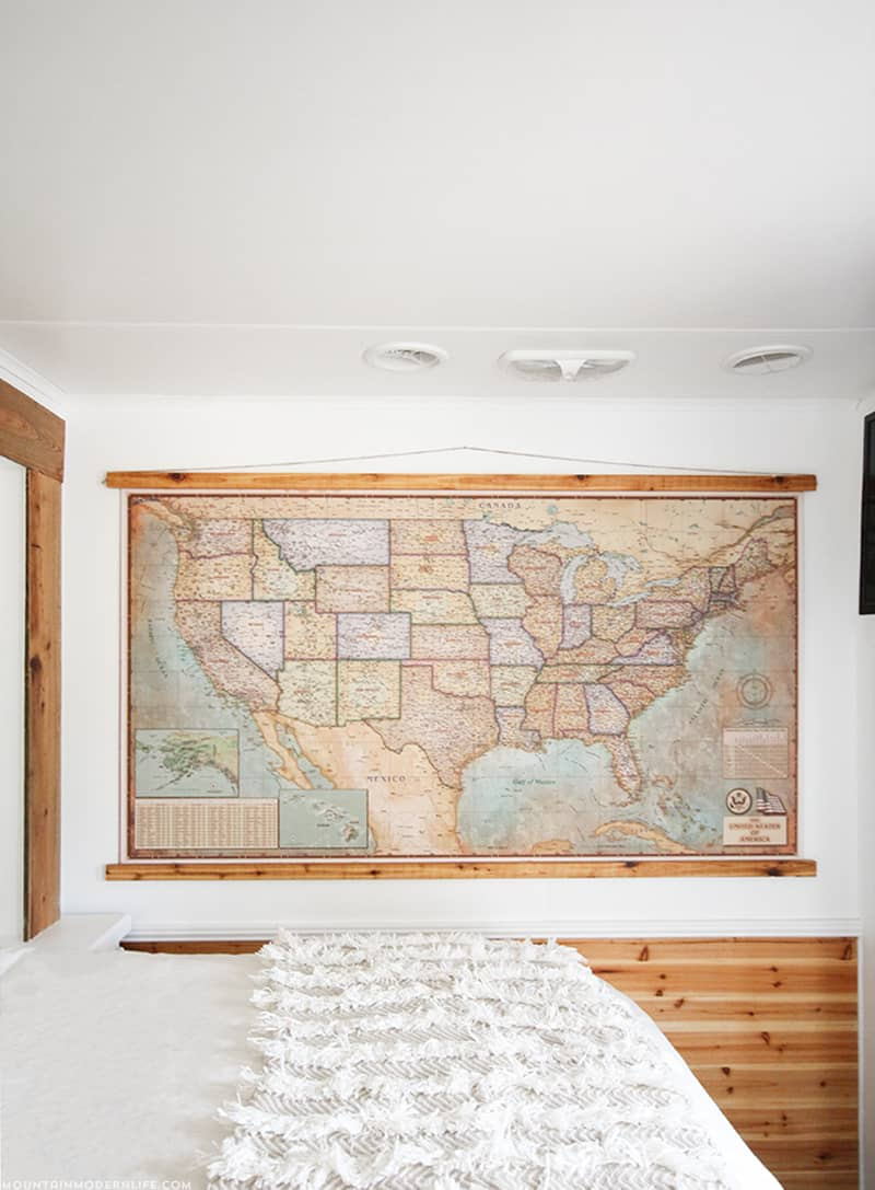 Document your Adventures with a DIY Push Pin VintageStyle Map – Rv Travel Map