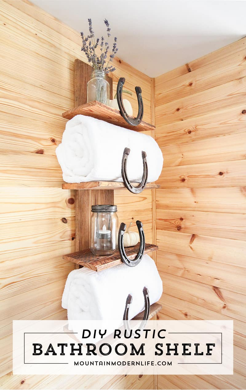 diy-rustic-horseshoe-bathroom-towel-holder-mountainmodernlife-com