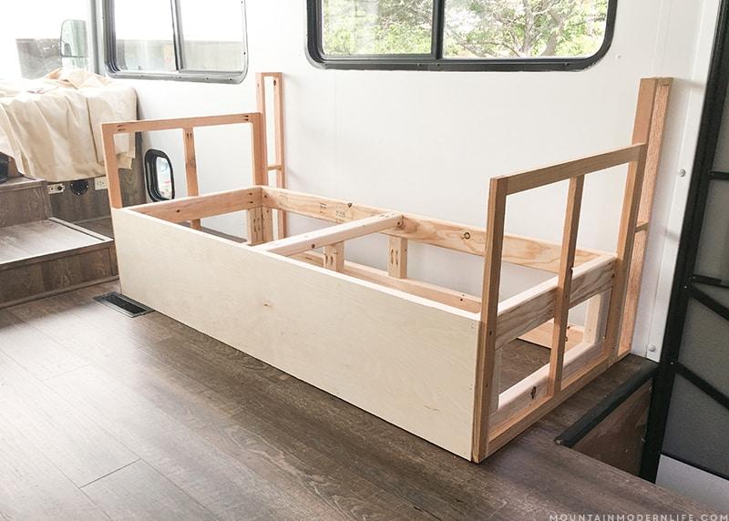 How We Built A Custom Rv Sofa